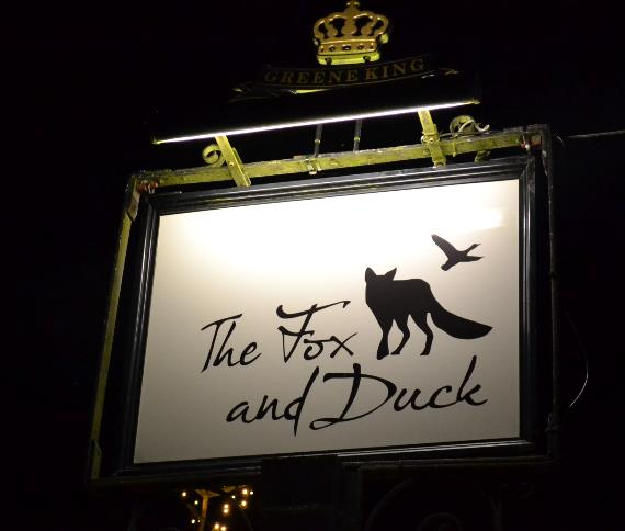 fox and duck sign