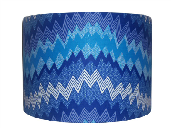 tola Blue Monochrome Chevron lampshade by Detola and Geek
