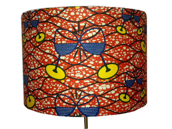 tola Burnt orange clinking wine glasses lampshade by Detola and Geek
