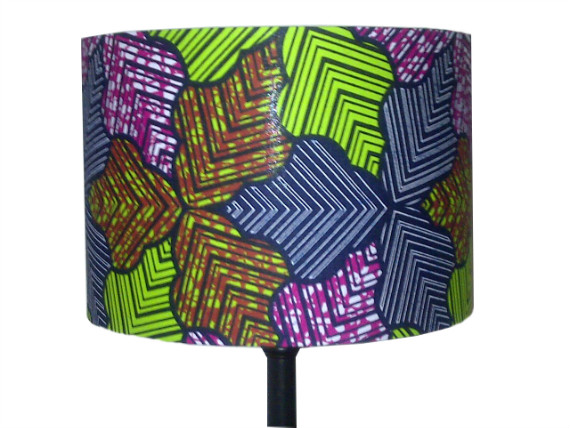 tola Multi coloured forest leaves handmade lampshade by Detola and Geek