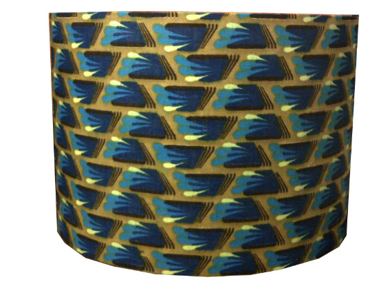 tola Olive  Blue Mini Pyramids Geometric Lampshade by Detola and Geek