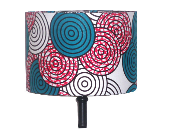tola teal fuchsia lollipop circles lampshade by Detola and Geek