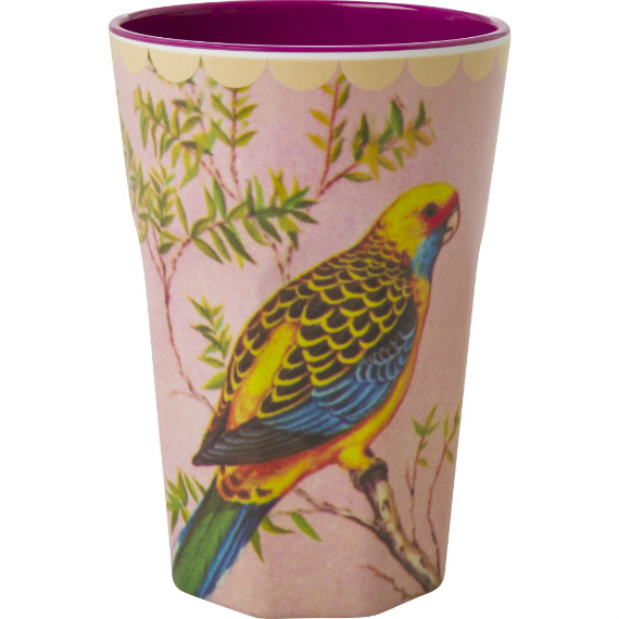 Melamine Budgie Tall Cup -ú7.50 oakroomshop.co.uk