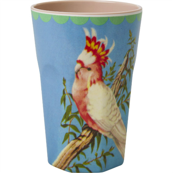 Melamine Cockatoo Tall Cup -ú7.50 oakroomshop.co.uk