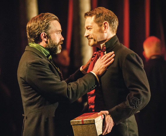 Hadley Fraser (Polixenes) and Kenneth Branagh (Leontes) in The Winter's Tale. CREDIT JOHAN PERSSON (1)