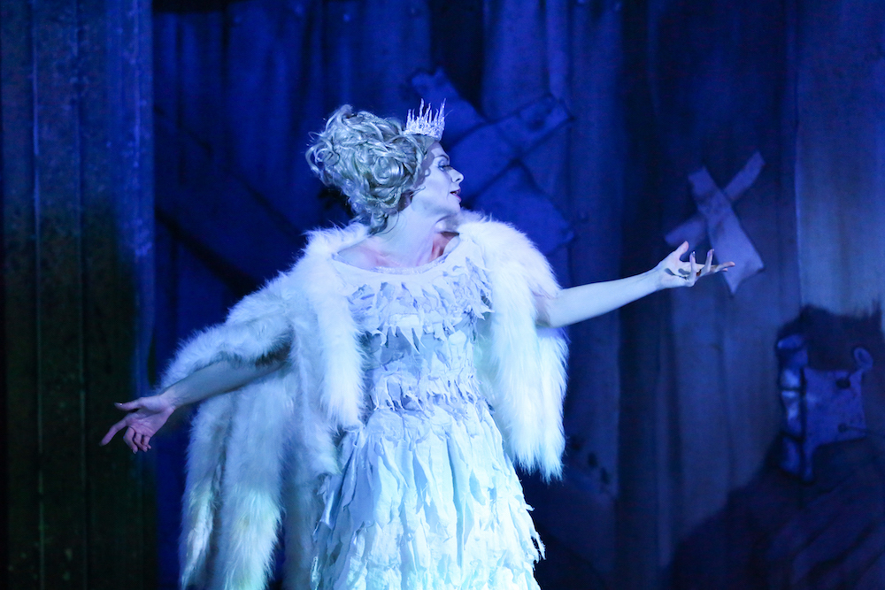Anya Hamilton as The Snow Queen The Snow Queen Hertford Theatre photo credit James Leask Frazer area1photography