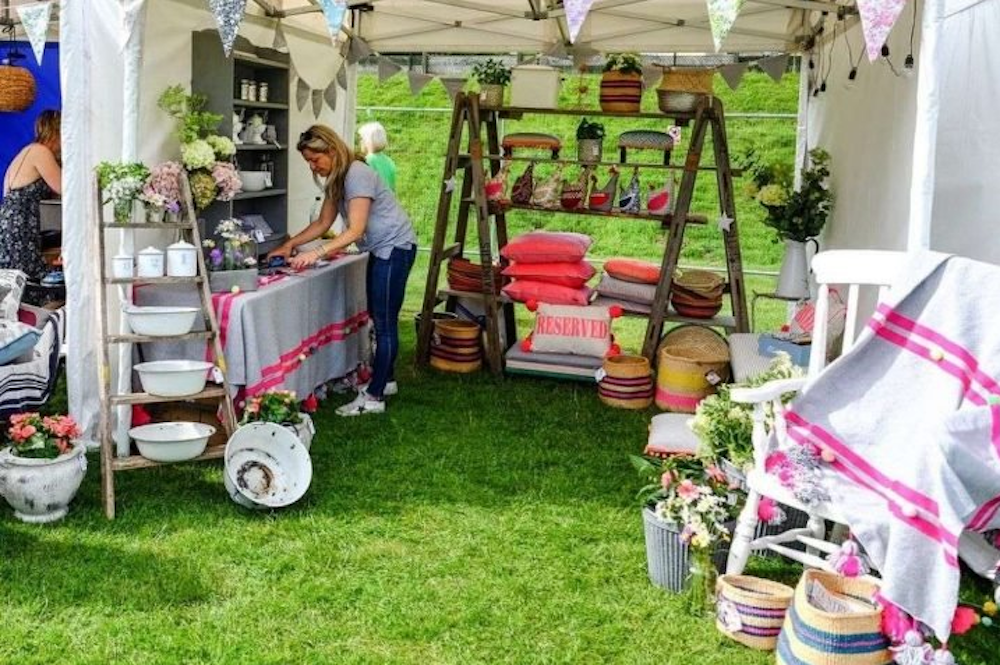 Humble Country summer Fayre stalls